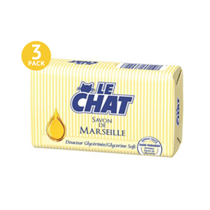 Le CHAT Savon De Marseille Glycerine Soft - 3 Pack