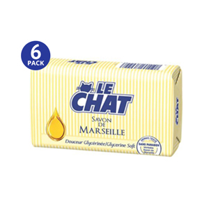 Le CHAT Savon De Marseille Glycerine Soft - 6 Pack