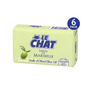 Le CHAT Savon De Marseille Huile dOlive - 6 Pack