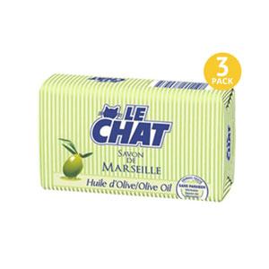 Le CHAT Savon De Marseille Huile dOlive - 3 Pack