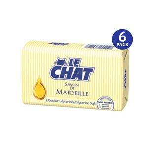 Le CHAT Savon De Marseille Glycerine Soft - 6 Pack