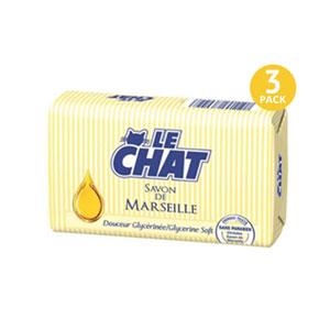 Le CHAT Savon De Marseille Glycerine Soft - 3 Pack